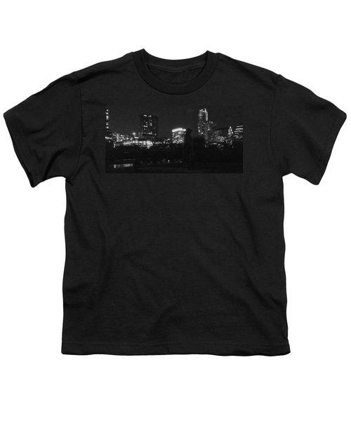 Austin Hike And Bike Trail - Srv Gritty Austin Night Panorama Youth T-Shirt