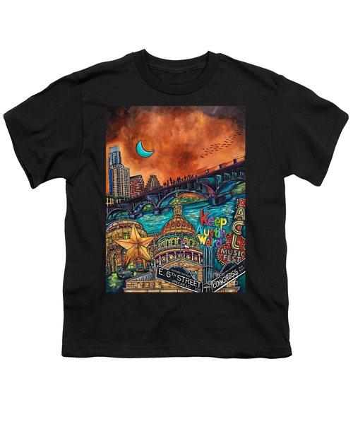 Austin Keeping It Weird Youth T-Shirt by Patti Schermerhorn