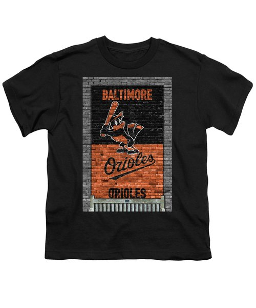Baltimore Orioles Brick Wall Youth T-Shirt
