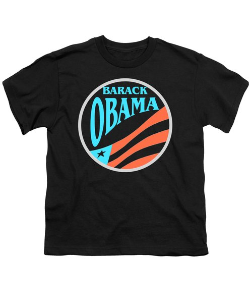 Barack Obama - Tshirt Design Youth T-Shirt by Art America Gallery Peter Potter