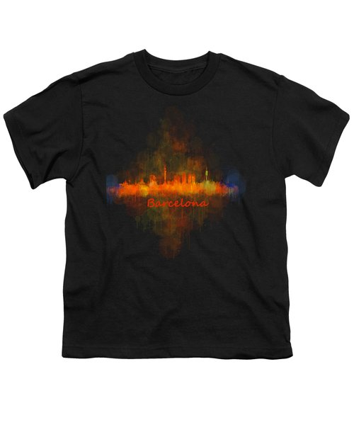 Barcelona City Skyline Uhq _v4 Youth T-Shirt by HQ Photo