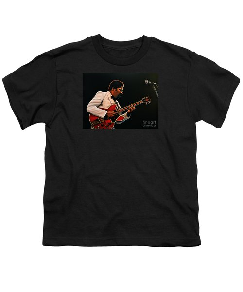 B. B. King Youth T-Shirt by Paul Meijering