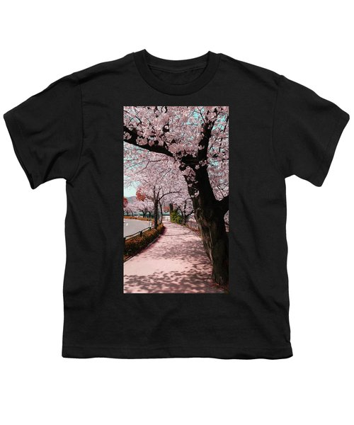 Beatiful Spring In Japan -road Filled With Cherry Blossom- Youth T-Shirt