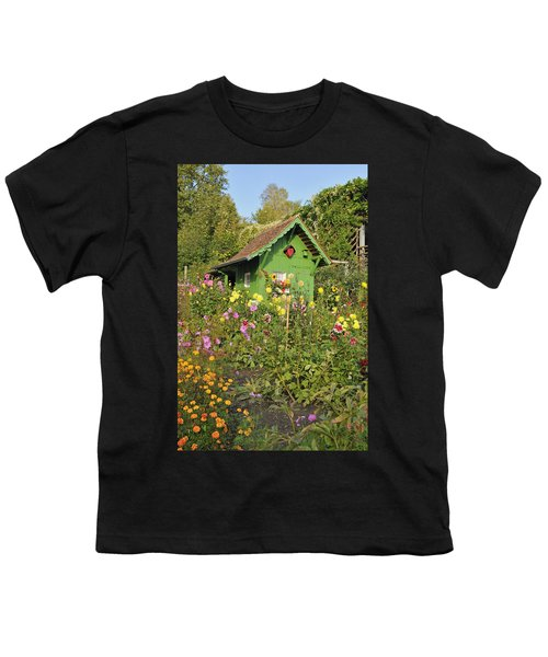 Beautiful Colorful Flower Garden Youth T-Shirt