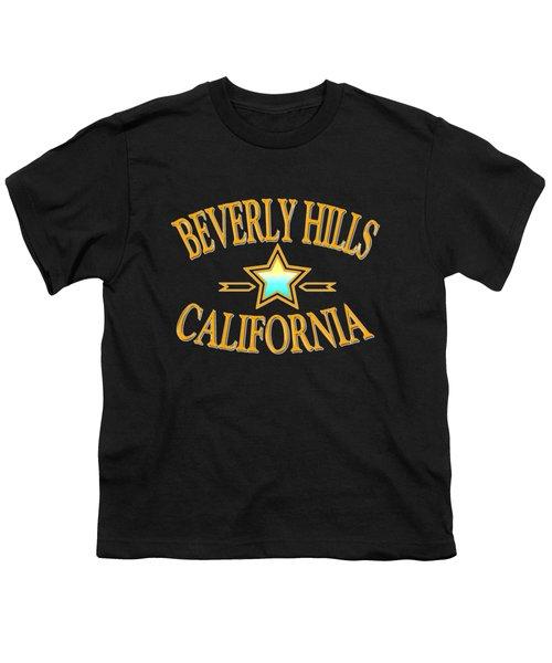 Beverly Hills California Star Design Youth T-Shirt