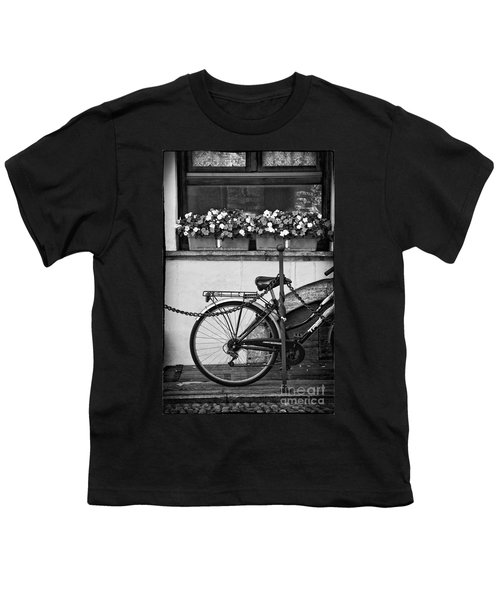 Bicycle With Flowers Youth T-Shirt