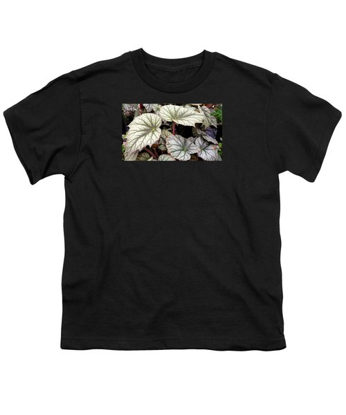 Big Begonia Leaves Youth T-Shirt by Nareeta Martin