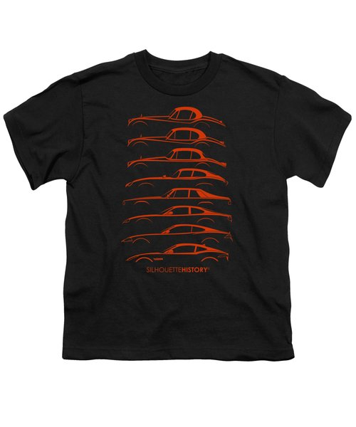 Big Cat Coupe Silhouettehistory Youth T-Shirt