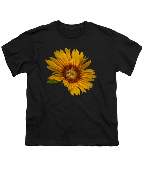 Big Sunflower Youth T-Shirt by Debra and Dave Vanderlaan