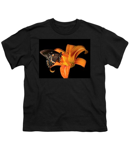 Black Beauty Butterfly Youth T-Shirt