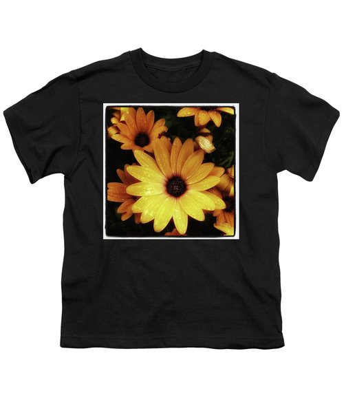Youth T-Shirt featuring the photograph Black Eyed Susans. Looks Like They're by Mr Photojimsf
