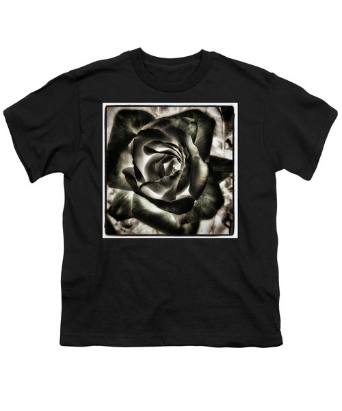 Youth T-Shirt featuring the photograph Black Rose. Symbol Of Farewells by Mr Photojimsf