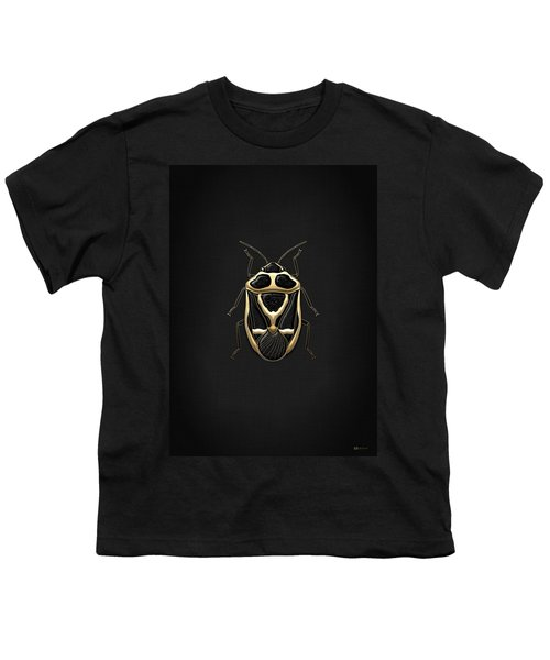 Black Shieldbug With Gold Accents  Youth T-Shirt by Serge Averbukh