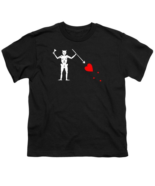 Blackbeard Pirate Flag Tee Youth T-Shirt