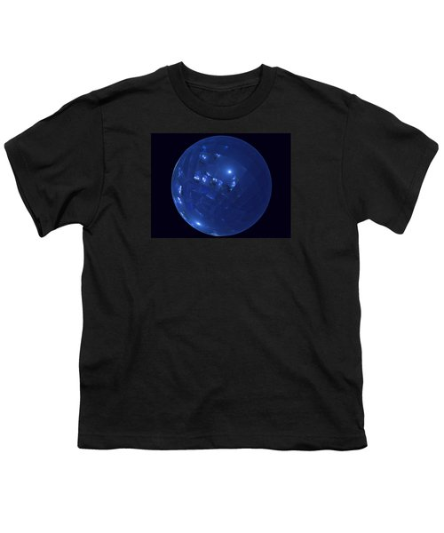 Blue Big Sphere With Squares Youth T-Shirt
