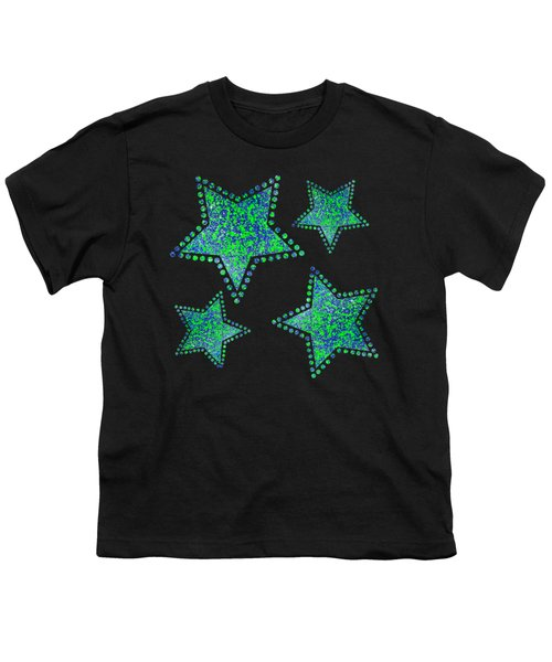 Blue Green Splatter Youth T-Shirt