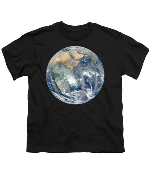Blue Marble 2012 - Eastern Hemisphere Of Earth Youth T-Shirt by Nikki Marie Smith