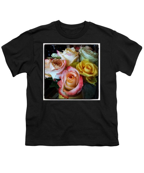 Youth T-Shirt featuring the photograph Bouquet Of Mature Roses At The Counter by Mr Photojimsf