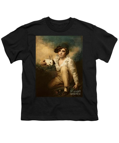 Boy And Rabbit Youth T-Shirt by Sir Henry Raeburn