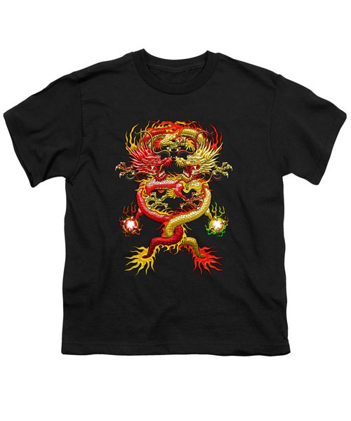 Brotherhood Of The Snake - The Red And The Yellow Dragons  Youth T-Shirt by Serge Averbukh
