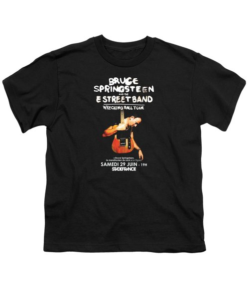 Bruce Springsteen Tour 2016 Youth T-Shirt by Gandi Rismawan