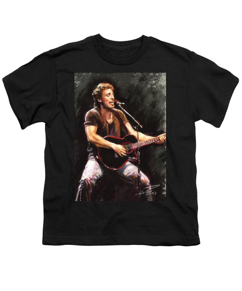Bruce Springsteen  Youth T-Shirt by Ylli Haruni