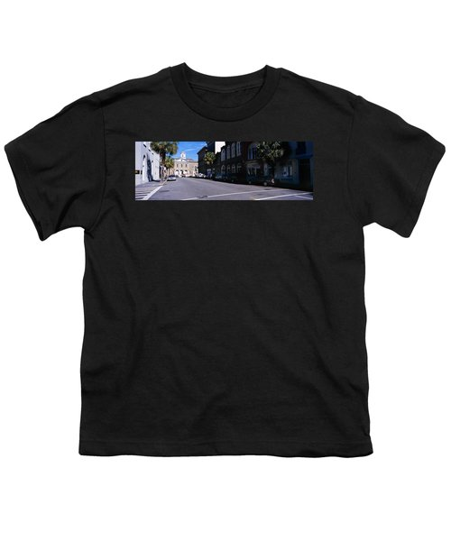 Buildings On Both Sides Of A Road Youth T-Shirt