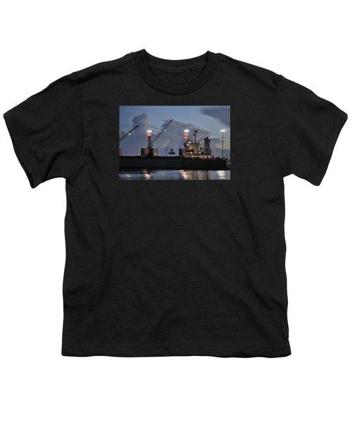 Bulk Cargo Carrier Loading At Dusk Youth T-Shirt