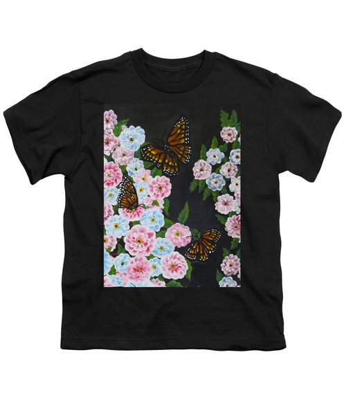 Butterfly Beauty Youth T-Shirt by Teresa Wing