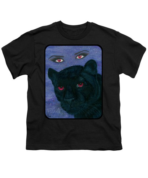 Carmilla - Black Panther Vampire Youth T-Shirt by Carrie Hawks