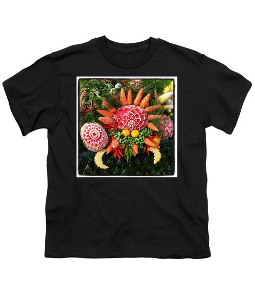 Youth T-Shirt featuring the photograph Carved Watermelon, And I Think Those by Mr Photojimsf