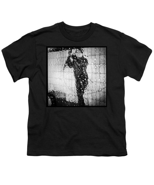 Carwash Cool Black And White Abstract Youth T-Shirt by Matthias Hauser