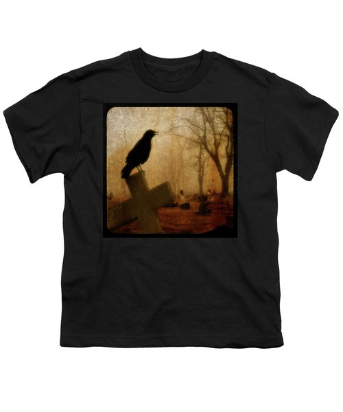 Cawing Night Crow Youth T-Shirt