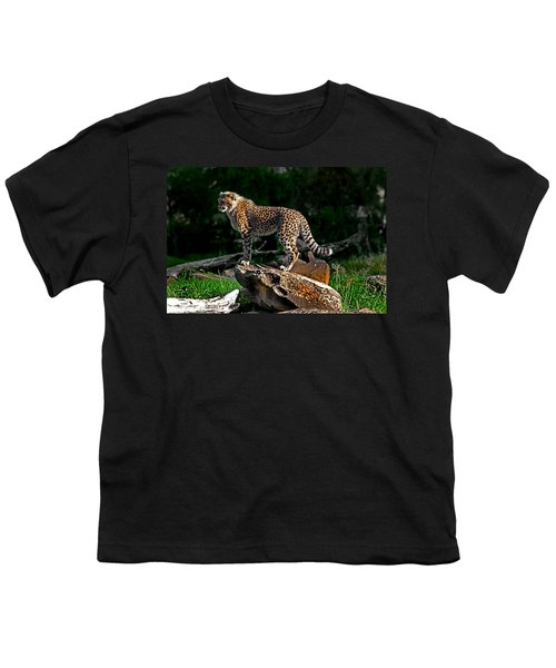 Cheetah Cub Finds Her Pride Rock Youth T-Shirt