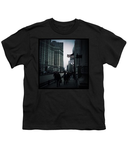 Chicago City Fog Youth T-Shirt by Frank J Casella