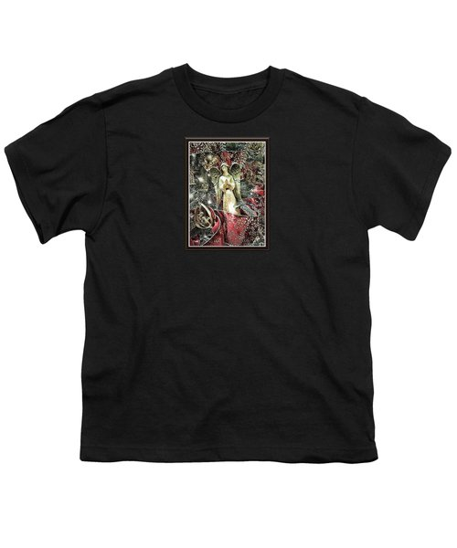 Christmas Angel Greeting Youth T-Shirt