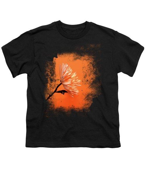 Chrysanthemum Orange Youth T-Shirt by Mark Rogan