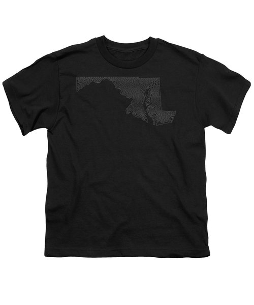 Cities And Towns In Maryland White Youth T-Shirt