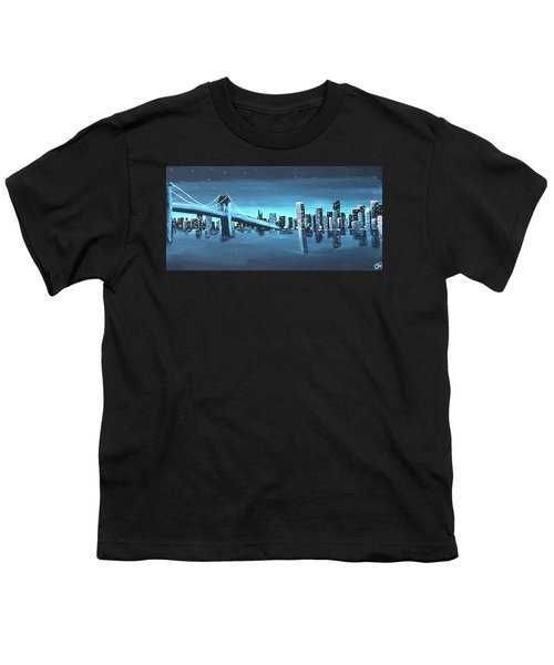 City Skyline Youth T-Shirt by Cyrionna The Cyerial Artist