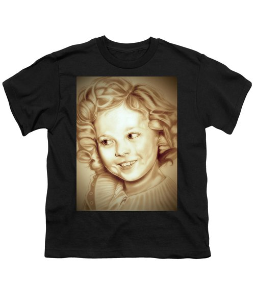 Classic Shirley Temple Youth T-Shirt by Fred Larucci