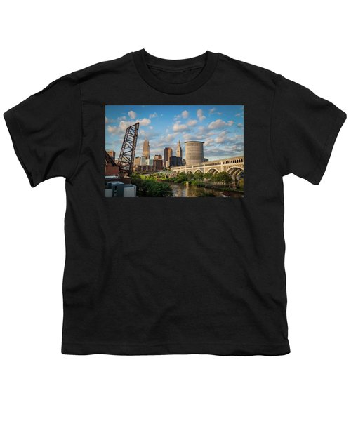 Cleveland Summer Skyline  Youth T-Shirt
