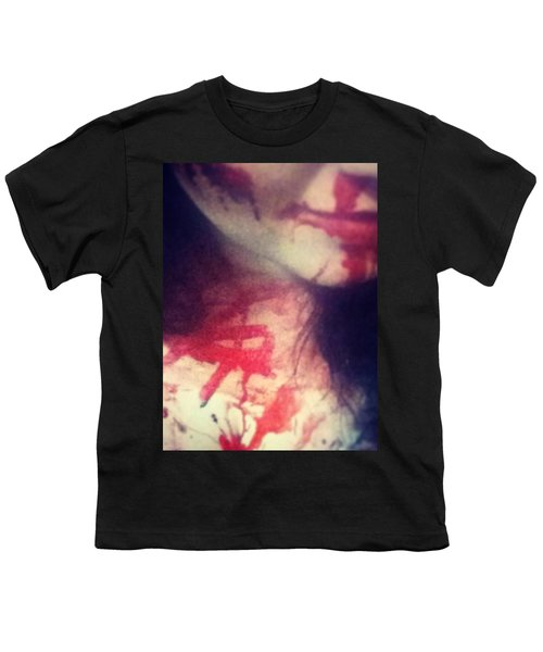 Close Up #bloody #mess #gross #creepy Youth T-Shirt