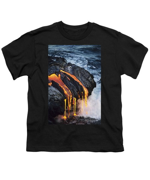 Close-up Lava Youth T-Shirt by Don King - Printscapes