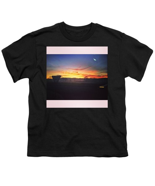 College Bus.  #sunrise #sun #wales Youth T-Shirt