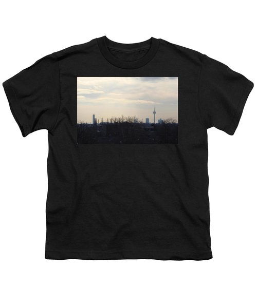 Cologne Skyline  Youth T-Shirt by Michael Paszek