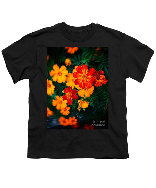 Youth T-Shirt featuring the photograph Colorful Flowers by Silvia Ganora