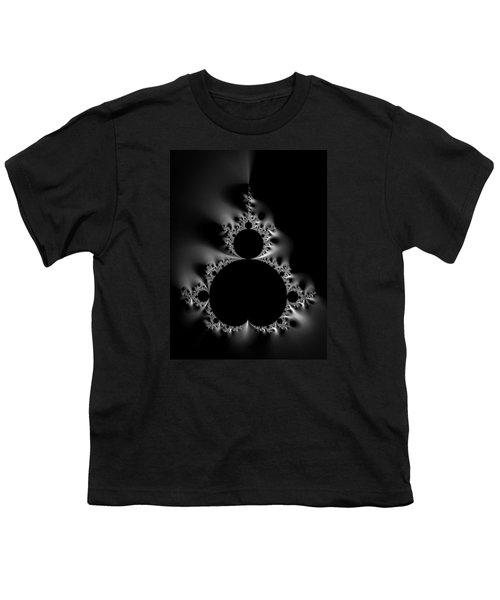 Cool Black And White Mandelbrot Set Youth T-Shirt