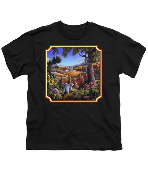 Coon Gap Holler Country Landscape - Square Format Youth T-Shirt by Walt Curlee