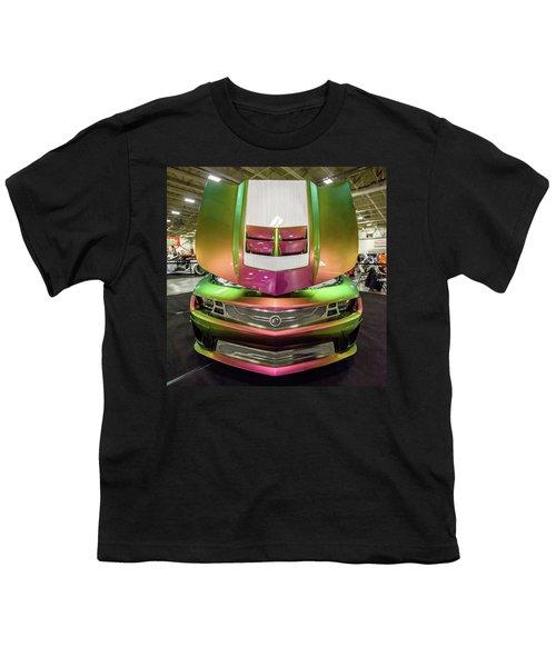 Youth T-Shirt featuring the photograph Custom Camaro by Randy Scherkenbach