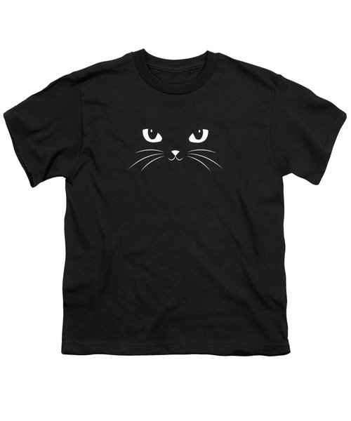 Cute Black Cat Youth T-Shirt by Philipp Rietz